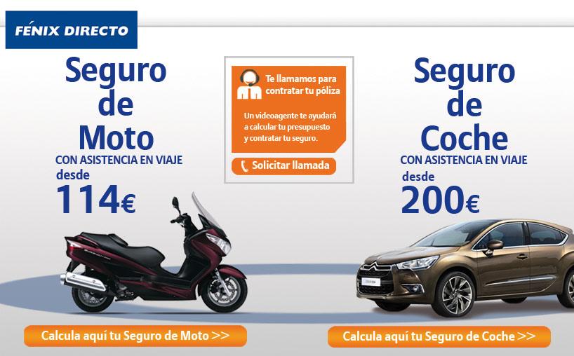 Seguros de coche y seguros de moto en F�nix Directo